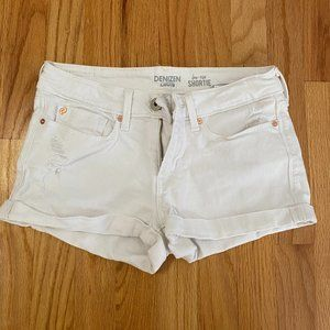 Levi's from Denizen low rise shorties white shorts